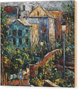 Two Village Lamps Wood Print