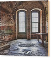 Two Windows Wood Print by Garry Gay