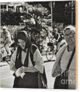 Two Women In Rovinj 2 Wood Print