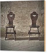 Two Wooden Chairs Wood Print