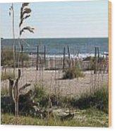 Tybee Island Beach Wood Print by Juliana  Blessington