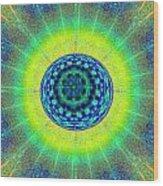 Tye Dye Eyeball Wood Print