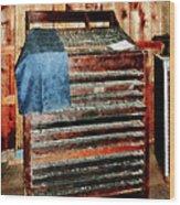 Type Case With Denim Apron Wood Print