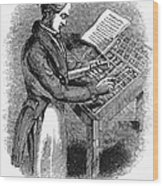 Typesetter, 19th Century Wood Print