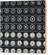 Typewriter Keyboard Wood Print by Hakon Soreide