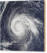 Typhoon Higos Wood Print
