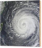 Typhoon Muifa East Of Taiwan Wood Print