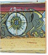 Typical Urban Fence 3 Wood Print