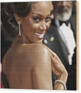 Tyra Banks At Arrivals For 58th Annual Wood Print by Everett