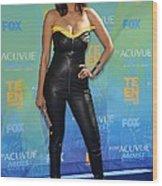 Tyra Banks Wearing A Thierry Mugler Wood Print