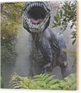 Tyrannosaurus Wood Print