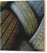 Tyres Wood Print