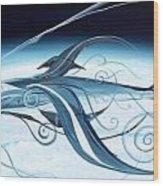 U2 Spyfish - Spy Plane As Abstract Fish - Wood Print