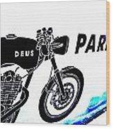 Ubud Motorbike Parking  Wood Print