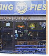 Uc Berkeley . Bears Lair Pub . 7d10165 Wood Print