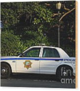 Uc Berkeley Campus Police Car  . 7d10178 Wood Print