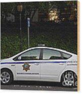 Uc Berkeley Campus Police Car  . 7d10181 Wood Print