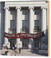 Uc Berkeley . Sproul Hall . Sproul Plaza . Occupy Uc Berkeley . 7d9991 Wood Print by Wingsdomain Art and Photography