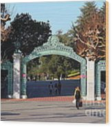 Uc Berkeley . Sproul Plaza . Sather Gate . 7d10020 Wood Print