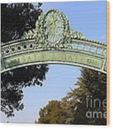 Uc Berkeley . Sproul Plaza . Sather Gate . 7d10031 Wood Print