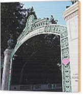 Uc Berkeley . Sproul Plaza . Sather Gate . 7d10035 Wood Print