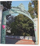 Uc Berkeley . Sproul Plaza . Sather Gate . 7d10037 Wood Print