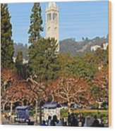 Uc Berkeley . Sproul Plaza . Sather Gate . 7d9998 Wood Print