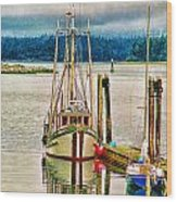 Ucluelet Harbour Hdr Wood Print