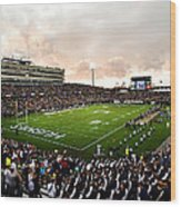 Uconn Rentschler Field Wood Print by University of Connecticut