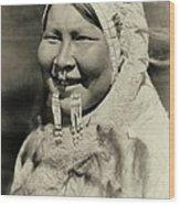 Ugiyaku Of The Nunivak Wood Print