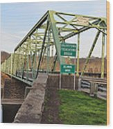 Uhlerstown Frenchtown Bridge Wood Print