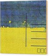 Ukraine Flag Postcard Wood Print