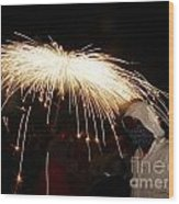 Umbrella Of Sparks Wood Print