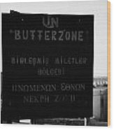 Un Buffer Zone In Pyla In The Green Line Dividing North And South Cyprus Wood Print