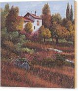 Una Bicicletta Nel Bosco Wood Print