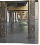 Under Dania Beach Pier Wood Print
