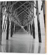 Under Folly Pier Wood Print