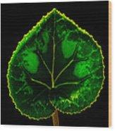 Under Leaf Wood Print