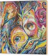 Under Olive Tree Wood Print by Elena Kotliarker