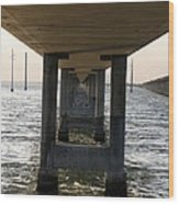 Under Seven Mile Bridge Wood Print