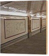 Under Southwark Bridge Wood Print