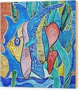 Under The Sea Wood Print