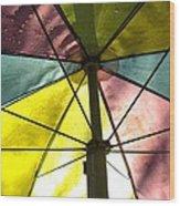 Under The Umbrella Wood Print