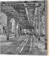 Under Wabash Avenue Wood Print