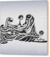 Undercurrents Wood Print