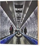 Underground Network Wood Print