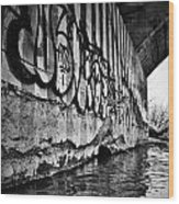 Underneath The Bridge Wood Print