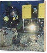 Underwater Archaeology Wood Print