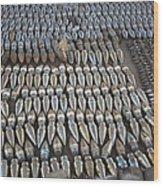 Unexploded Ordnance Lies In Storage Wood Print