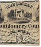 Union Banknote, 1865 Wood Print